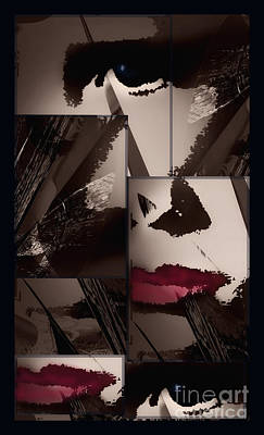 Abstract Digital Art Mixed Media - Kiss Me by Gerlinde Keating - Galleria GK Keating Associates Inc