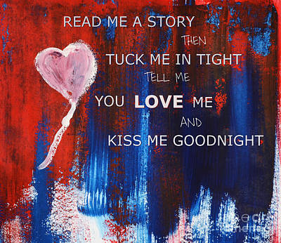 Kiss Me Goodnight Art Print by Andrea Anderegg