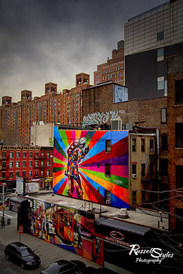 Kiss Me On The High Line Art Print by Russell Styles
