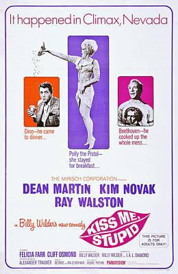 Dean Martin Poster Photograph - Kiss Me Stupid, Us Poster Art by Everett