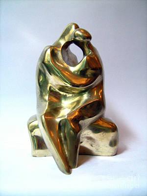 Nikola Litchkov Sculpture - Kiss by Nikola Litchkov
