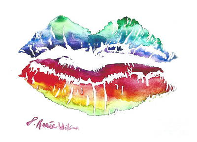 Lgbt Painting - Kiss Of Color by D Renee Wilson