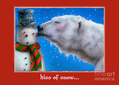 Polar Painting - kiss of Snow... by Will Bullas