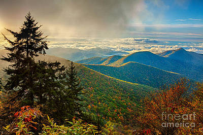 Kiss Of Sunshine - Blue Ridge Mountains I Art Print