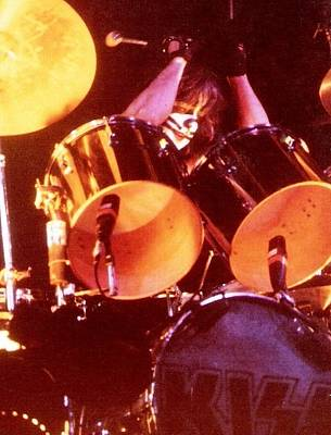 Peter Criss Photograph - Kiss Peter by Kevin Bohner