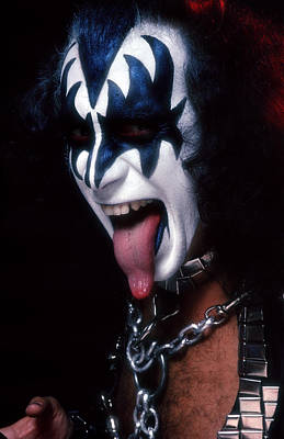 Heavy Metal Photograph - Kiss - The Demon by Epic Rights