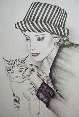Kisses Art Print by Lisa Marie Szkolnik
