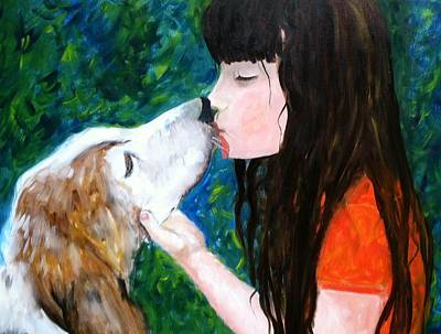 Painting - Kisses by Vikki Angel