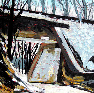 Kissime Underpass Art Print by Charlie Spear