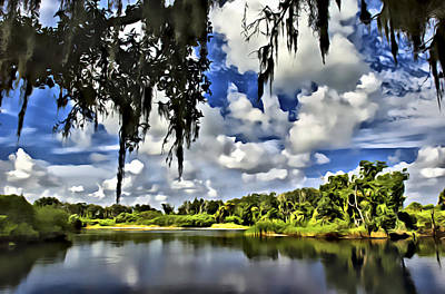 Digital Art - Kissimmee River Oxbow by Patrick M Lynch