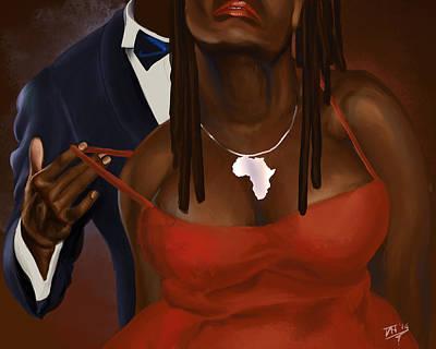 Blackart Digital Art - Kissing My Neck by David James