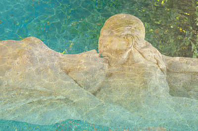 Under The Ocean Mixed Media - Kissing Nymph by Arsenije Jovanovic