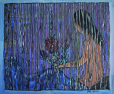 Kissing Rain Print by Barbara St Jean