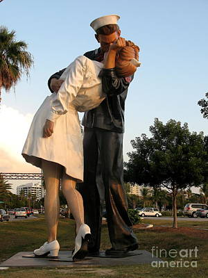 Before Dusk Photograph - Kissing Sailor At Dusk - The Kiss by Christiane Schulze Art And Photography