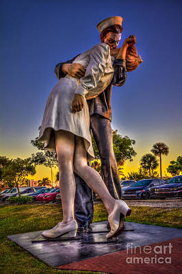 Sailors Girl Photograph - Kissing Sailor by Marvin Spates