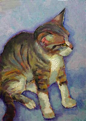 Kit Kat The Tabby Kitten Art Print