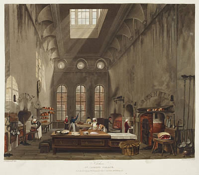 Stove Photograph - Kitchen At St. James's Palace by British Library
