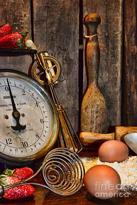 Kitchen - Baking A Strawberry Pie Art Print by Paul Ward