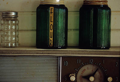 Photograph - Kitchen Canisters by Harold E McCray