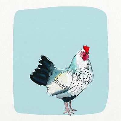 Kitchen Chicken Art Print