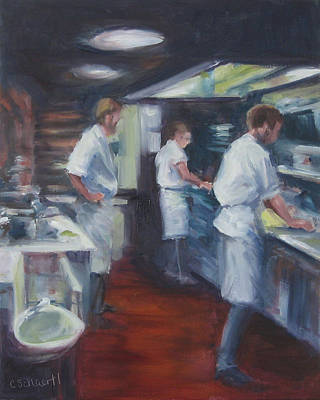 Painting - Kitchen Choreographer by Connie Schaertl