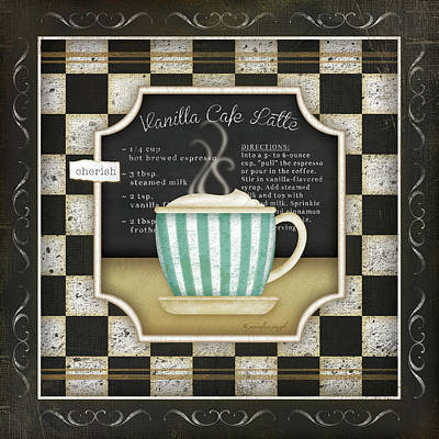 Kitchen Cuisine Coffee Iv Art Print
