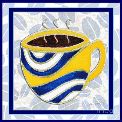 Kitchen Cuisine Hot Cuppa No76 V2 By Romi And Megan Art Print by Megan Duncanson