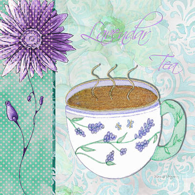 Green Beans Painting - Kitchen Cuisine Hot Cuppa No80 By Romi And Megan by Megan Duncanson