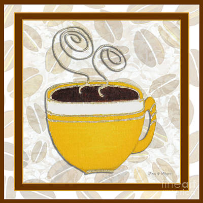 Modern Painting - Kitchen Cuisine Hot Cuppa No87 V2 By Romi And Megan by Megan Duncanson