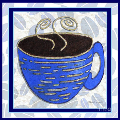 Kitchen Cuisine Hot Cuppa No89 V2 By Romi And Megan Art Print by Megan Duncanson