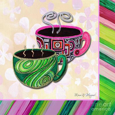 Kitchen Painting - Kitchen Cuisine Tea Party Napkin Design 2 By Romi And Megan by Megan Duncanson