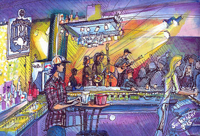 Ballroom Painting - Kitchen Dwellers  by David Sockrider