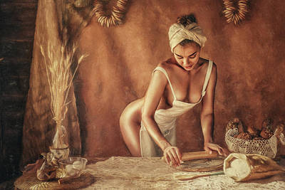 Nude Photograph - Kitchen by Evgeny Loza