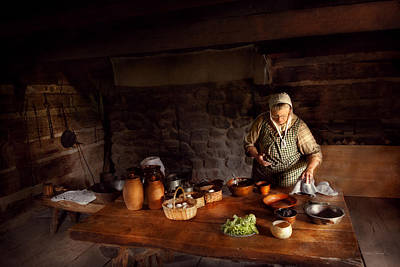 Photograph - Kitchen - Farm Cooking by Mike Savad