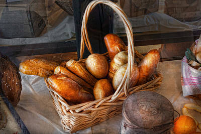 Kitchen - Food - Bread - Fresh Bread  Art Print by Mike Savad