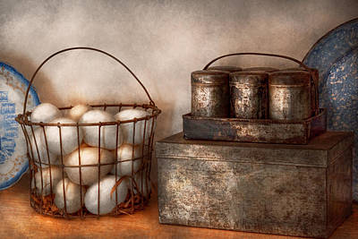 Kitchen - Food - Eggs - Fresh This Morning Art Print by Mike Savad