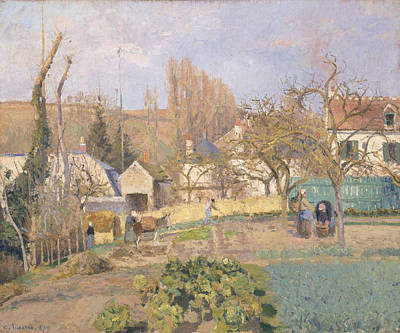 Impressionist Photograph - Kitchen Garden At The The Lhermitage, Pontoise, 1874 Oil On Canvas by Camille Pissarro