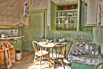 Photograph - Kitchen In Bodie By Diana Sainz by Diana Raquel Sainz