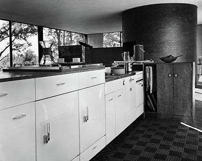 Kitchen Inside A House Designed By Philip C Art Print by Andr? Kert?sz