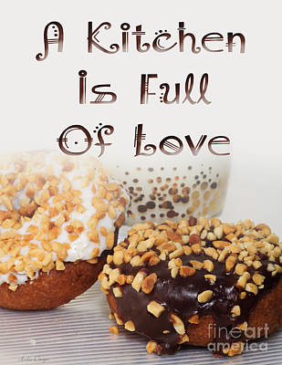 Kitchen Is Full Of Love 18 Art Print by Andee Design