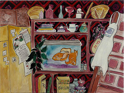Painting - Kitchen Kitsch by Elaine Elliott