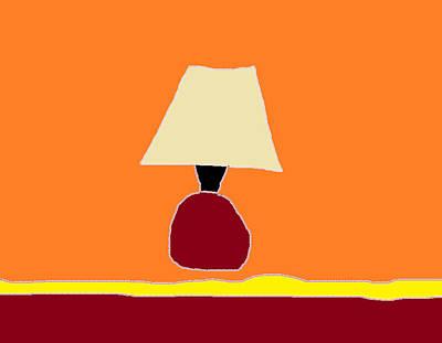 Kitchen Lamp 3 Art Print by Anita Dale Livaditis