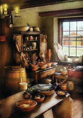 Kitchen - Nothing Like Home Cooking Art Print by Mike Savad
