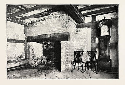 Stratford Drawing - Kitchen Of The House In Which Shakespeare Was Born by English School