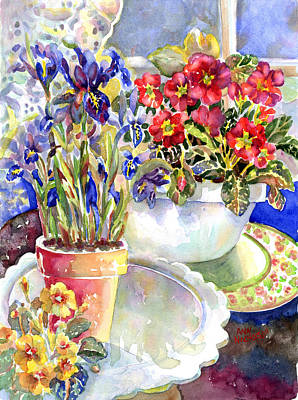 Painting - Kitchen Primrose by Ann  Nicholson