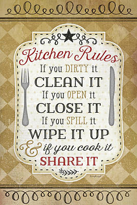 Dinner Painting - Kitchen Rules by Jennifer Pugh