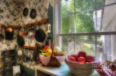 Photograph - Kitchen Scene By Window by Dan Friend