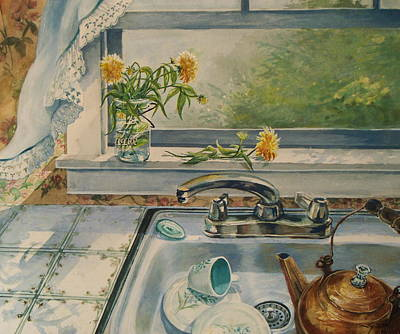 Art Print featuring the painting Kitchen Sink by Joy Nichols