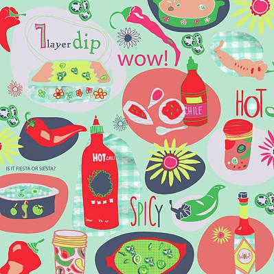 Kitchen Spice Art Print by Pamela J. Wingard