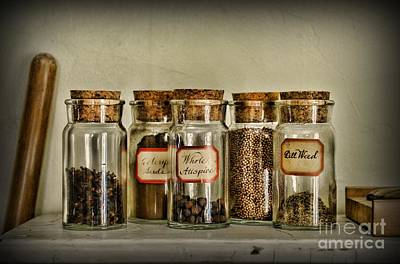 Kitchen Spices Colonial Era Art Print by Paul Ward